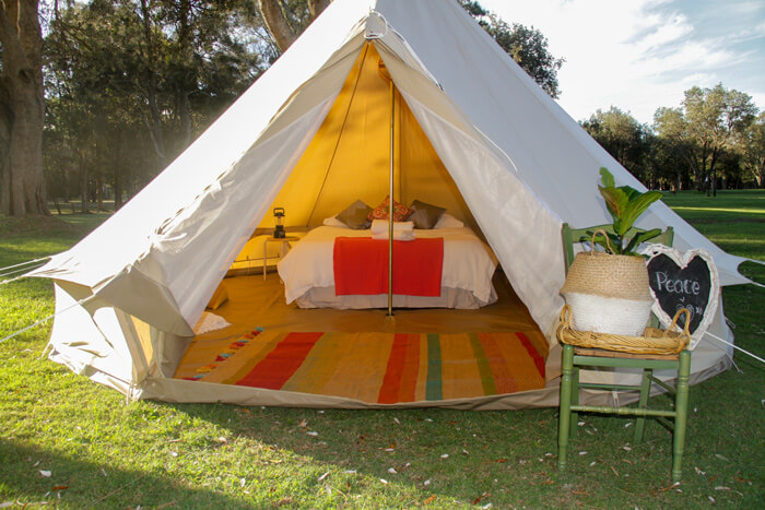 banksias tent setup